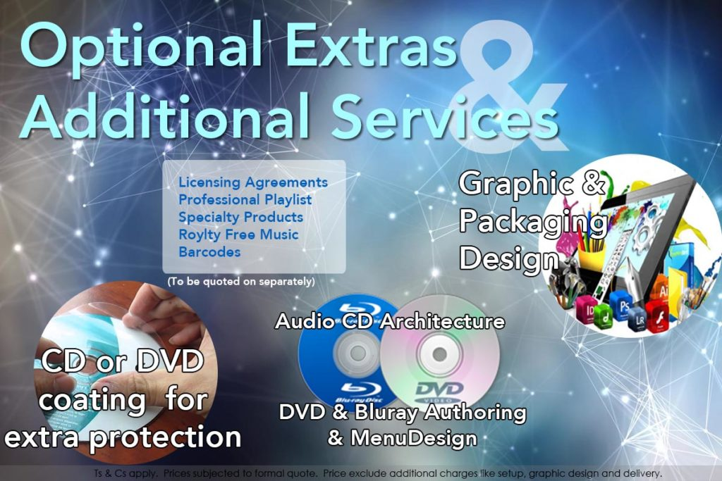 Optional Extras & Additional Services (To be quoted on separately)