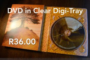DVD, printed and duplicated in clear Digi-Tray and cardboard cover